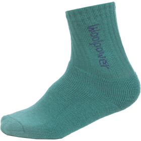 Woolpower 400 Classic Logo Socks Kids turtle green